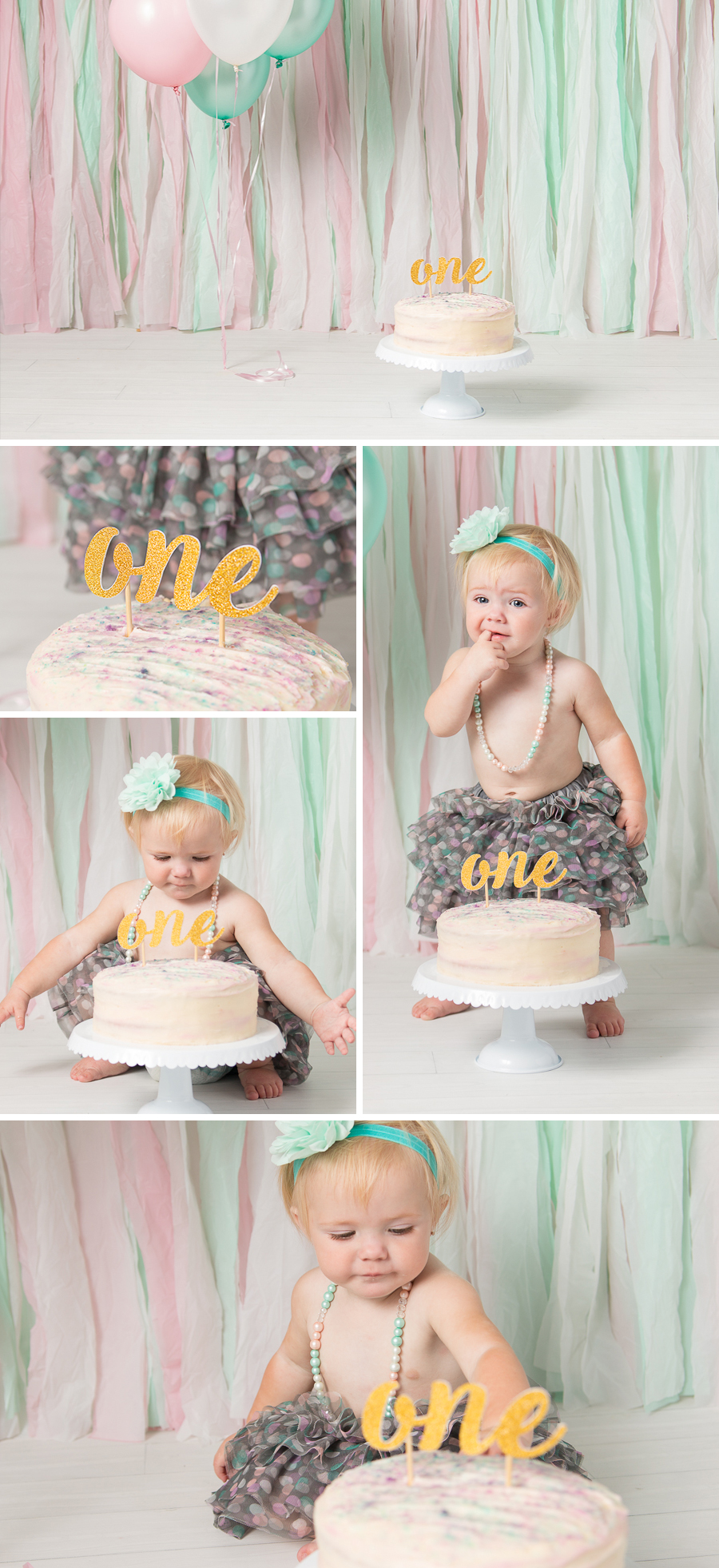Incredible Baby Girl 1St Birthday Cake Smash 1 Lee Anne Cowling Funny Birthday Cards Online Sheoxdamsfinfo