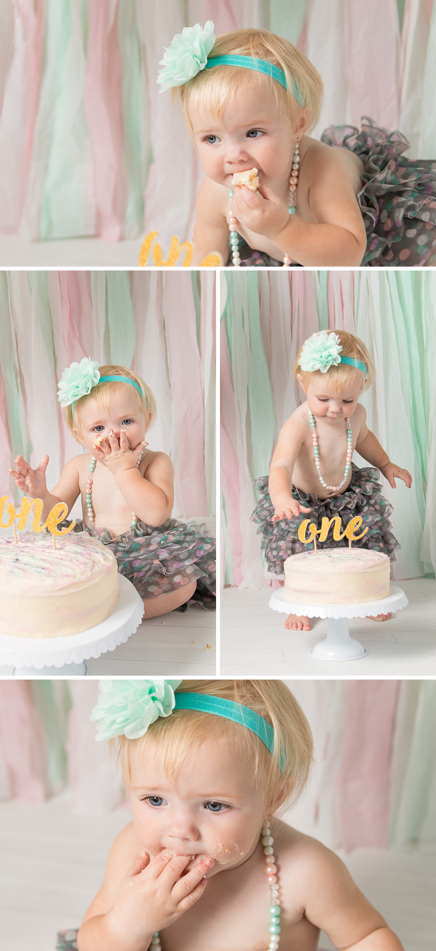 Awesome Baby Girl 1St Birthday Cake Smash 2 Lee Anne Cowling Funny Birthday Cards Online Elaedamsfinfo